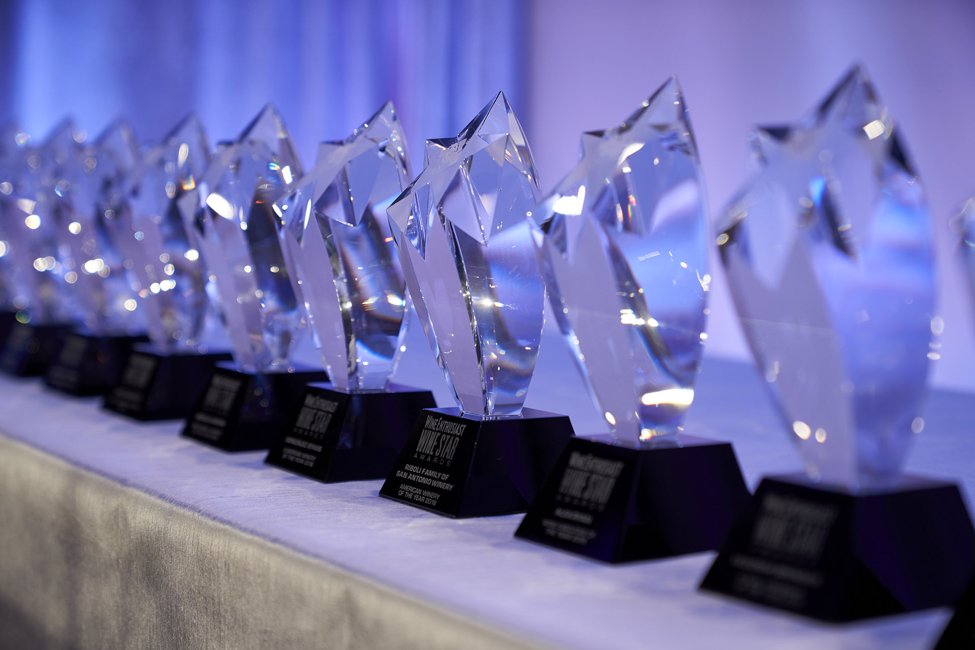 Cascade of Trophies and Awards in the hotel industry